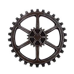 WINOMO 24cm Vintage Steampunk Gear Wheel Home Bar Art Craft Wall Decoration Hexagon Decor
