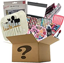 BR Makeup Surprise Mystery Box Gift Set - Exclusive All in One Makeup Set - Include Pro Makeup Brush Set, Eyeshadow Palette, Makeup Set, Lip Stick and Much More - COLORS VARIES (Large, Artistic)