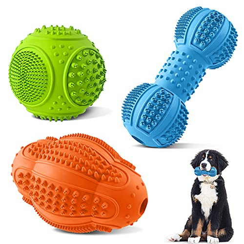 Dog Chew Toys 3 Pack, Dog Toys for Aggressive Chewers Large Breed,...