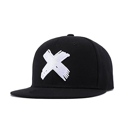 a7eae984 Quanhaigou Unisex Snapback, Adjustable Big X Anime Dad Hat Flat Bill  Baseball Cap