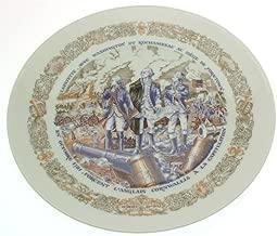 Limoges Lafayette Legacy Collection plate Lafayette avec Washington et Rochambeau au siege de Yorktown - CP1356