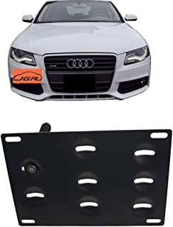 JGR Racing Car No drill Tow Eye Front Bumper Tow Hole Hook License Plate Mount Bracket Holder Adapter Relocation Kit For Audi A4 A5 A7 S4 S5 S7 RS5 RS7 etc