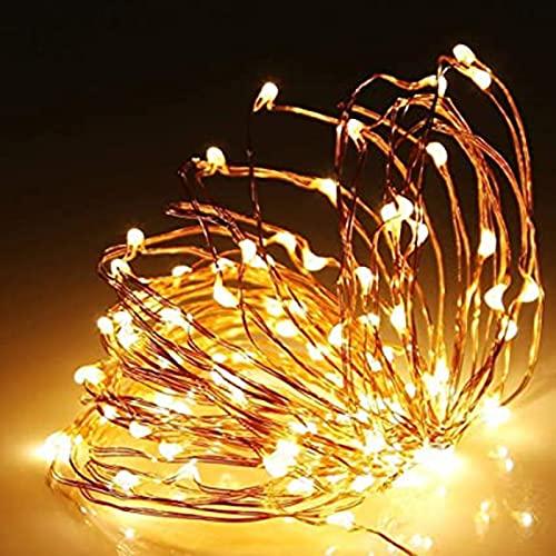 LED Luces De Cadena, 10M LED Guirnaldas Luminosas con,Impermeable Luces Interior Y Exterior para Navidad, Habitacion, Fiesta, Jardín, Bodas, Césped