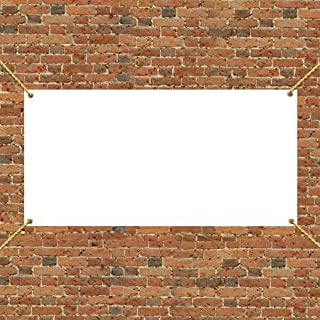 VictoryStore Yard Sign Outdoor Lawn Decorations: 3' x 6' Vinyl Banner Blank - 10 ounces Vinyl