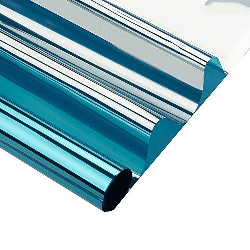 N / A Blaue Glasfolie gefärbt Selbstklebender Datenschutz UV-Schutz Explosionsgeschützte Einweg-Fensterfolie Glasdekorfolie A78 60x200cm