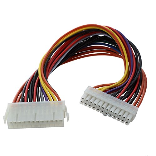 SODIAL 29.5cm Ordenador PSU ATX 24 Pin Macho a Hembra Cable de Extension de Energia