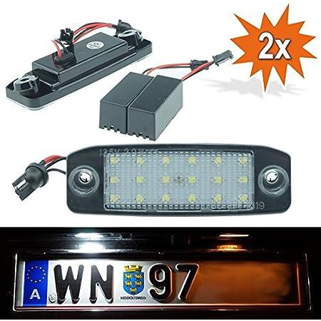 Do Led Q01 Led Kennzeichenbeleuchtung Mit E Prüfzeichen Xenon Optik Auto