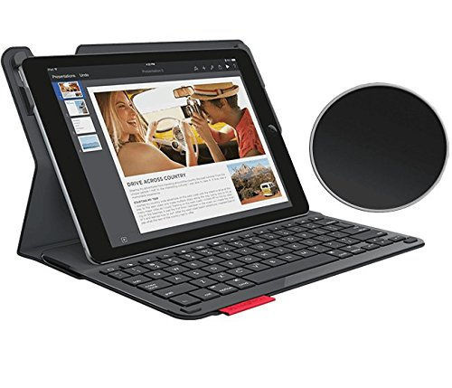 Logitech Type+ Protective Case with Integrated Keyboard for iPad Air 1st Generation, Carbon Black (920-006909)