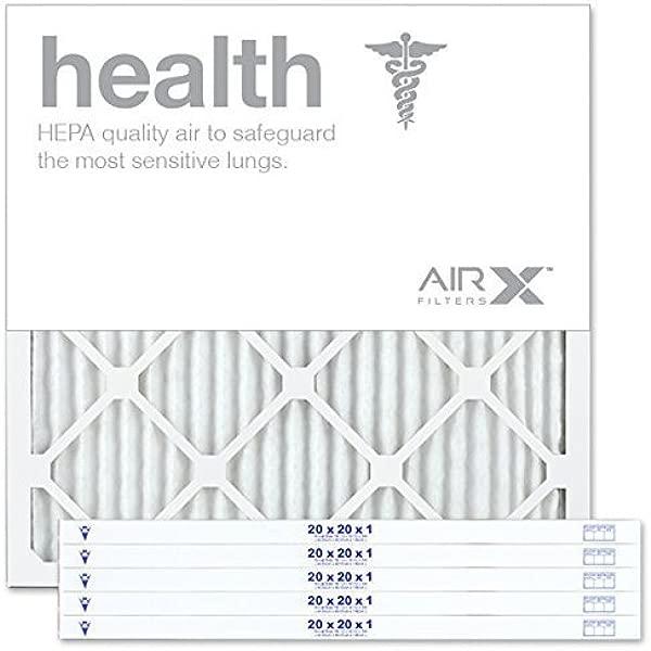 AIRx 健康 20x1 MERV 13 打褶空气过滤器美国制造 6 盒