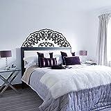 Camera da letto testiera decalcomanie metà mandala camera da letto decalcomanie della parete decalcomanie della parete della casa decorazione della parete adesivi carta da parati A5 42x21 cm