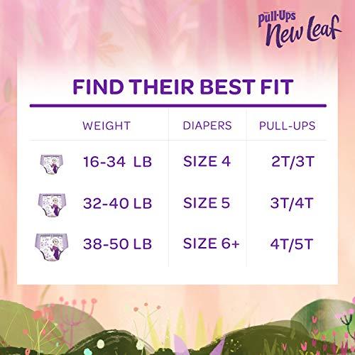 76 count 2T-3T Pull-Ups New Leaf Girls Training Pants