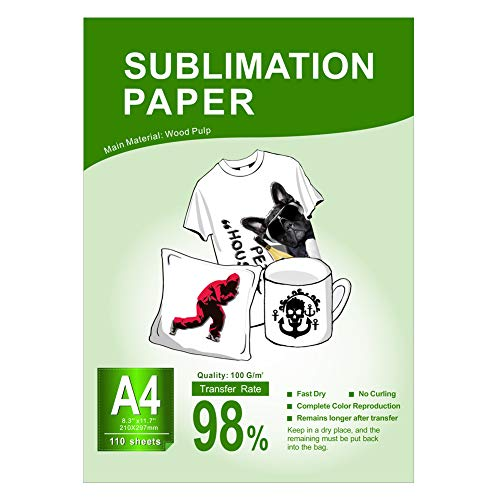 PlanetFlame A4 Sublimation Paper 110 Sheets, 8.3x11.7