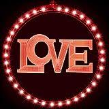 Luce Decorativa per Finestre di San Valentine Luci Stringa per Sfondo Luci Decorative Love Rosse di Valentine per Finestre Patio Percorso Camera da Letto Festa Decorazione da Parete (Love)