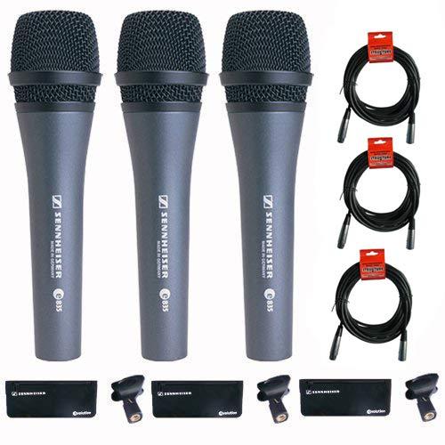 Sennheiser 3x e 835 Wired Cardioid Handheld Dynamic Lead Vocal