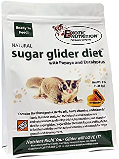 Sugar Glider Diet with Papaya and Eucalyptus - High Protein All Natural Healthy Sugar Glider Food - Nutritionally Complete Staple Diet