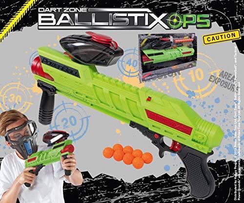Lively Moments Powerball Blaster ( in grün ) ca. 45 cm von Dart Zone Ballistix Ops / Spielzeug Gewehr / Ballspiel
