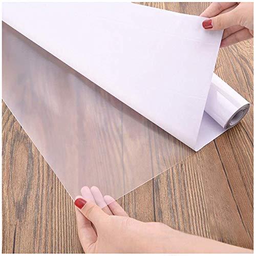 Fantasnight Transparent Klebefolie Selbstklebende Folie 40cm×300cm Tisch Buchfolie Wandschutzfolie Durchsichtige Hitzebeständige Küchenfolie Hochglanz Einbandfolie für Bücher