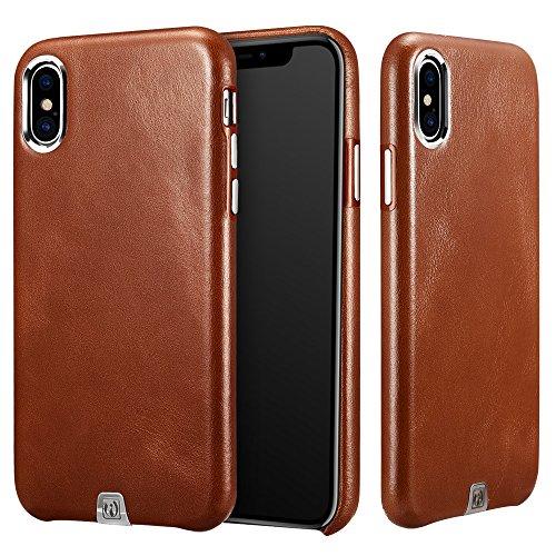 ICARER Coque Cuir iPhone XS iPhone X, Cuir Premium Étui Housse en Cuir...