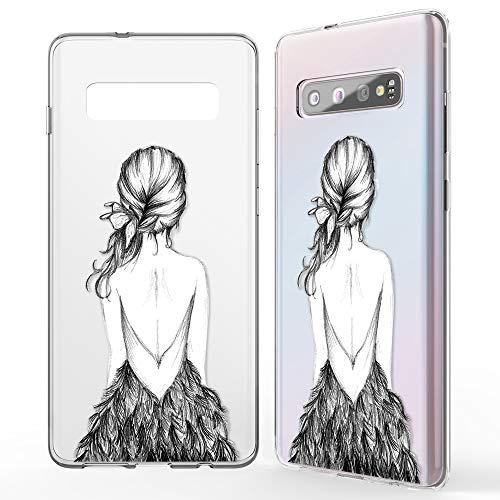 NALIA Hülle kompatibel mit Samsung Galaxy S10, Motiv Handyhülle Slim Silikon Hülle Cover Schutzhülle Dünn Durchsichtig, Etui Handy-Tasche Backcover Transparent Bumper Skin, Designs:Bird Princess