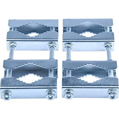 Doppel-Mastschellen-Set mit 2 Schellen; für Mast an Mast - Montage (Mastverlängerung)
