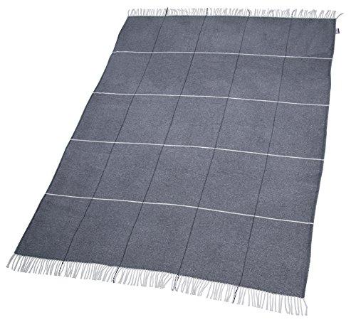 TOM TAILOR T-Soft Wool Plaid, Baumwoll-Mischgewebe, Anthrazit, 150 x 200 cm