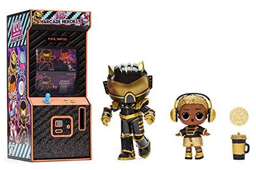 L.O.L. Surprise!- LOL Surprise Boys Arcade Serie 2 Action Figure-15 sorpresas: Vestido de héroe, muñeca Ultra-Rare y Tarjetas coleccionables-Edades: de 4 a 15 años, Color (577485C3)