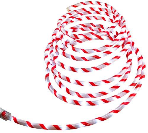 Bambelaa! LED Lichterschlauch Zuckerstange Lichterkette außen Lichtschlauch Leuchtschlauch Weihnachten ca 6m rot weiß