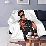 Iutmnot Boutique Throw Blanket -Yeah Buddy Dj Pauly D Jersey Shore Super Soft Fleece Throw Blankets,Fuzzy Plush Blanket Oversized,Thin Lightweight Blanket for All Season 50'X40'