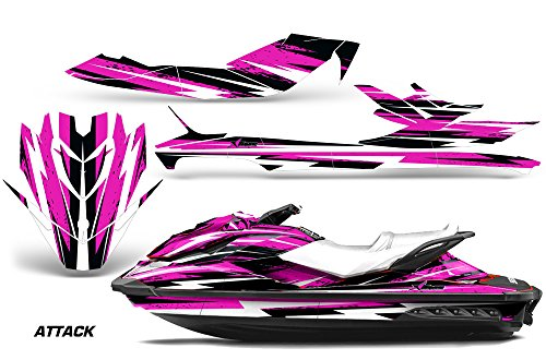 AMR Racing Jet Ski Graphics kit Sticker Decal Compatible with Sea-Doo GTI SE 2011-2014 - Attack Pink