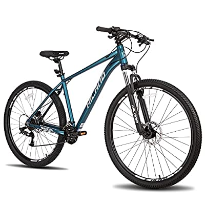 Hiland 29 Inch Mountain Bike Aluminum Hydraulic Disc-Brake 16Speed with Lock-Out Suspension Fork