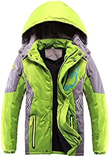 SODIAL Children Outerwear Warm Coat Sporty Kids Clothes Double-Deck Waterproof Windproof Thicken Boys Girls Jackets Autumn and Winter」ィBlue 4T=120CM
