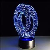 Ilusión óptica mágica atmósfera Mesa de luz decoración Espiral Espiral Bombilla ilusión