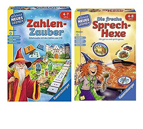 Ravensburger Kinderspiele: Zahlen-Zauber + Die Freche Sprech-Hexe