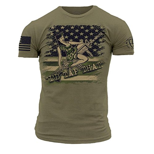 Grunt Style Enlisted 9 - Tap That Men's T-Shirt, Color Military Green, Size X-Large