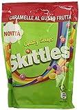 Skittles Crazy Sours, Caramelle Americane Rotonde Colorate alla Frutta dal Gusto Aspro, 14...