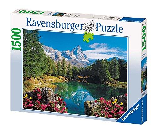 Ravensburger Puzzle Montagna, Lago Alpino Con Cervino, Puzzle 1500 pezzi, Relax, Puzzles da Adulti, Dimensione: 80x60 cm, Stampa di alta qualità, Travel, Viaggi