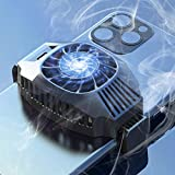 New Designing Phone Cooler with Wireless Charging 10W for iOS and Android Phone-Cooling Fan Designed for Gaming Phone,Suitable for 4-7in Phone Heat Radiation