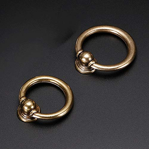 Jinzsnk kabinet knoppen 10-Pack Europese antieke eenvoudige ronde ring handvat enkele gat lade handvat garderobe kast deur meubels klein handvat kast dressoir