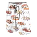 Akhy Boys Teens Beach - Pantalones cortos para cocina, estilo chino Chinese Cuisine Ramen S