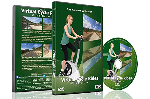 Virtual Cycle Rides - Olives Groves Spain - For Indoor Cycling, Treadmill and Running Workouts