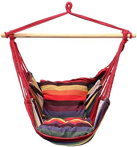 WMYATING Silla de Hamaca Colgando Silla de Hamaca Swing Bed Outdoor Interior Camping Garden Apto para Recuerdos para Interiores o al Aire Libre Silla Perezosa
