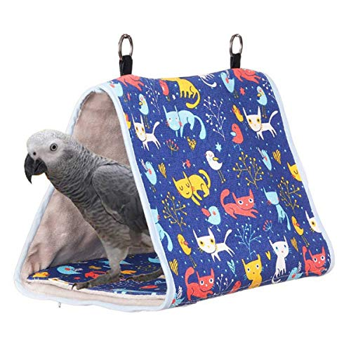 FCBF Colgante Nido de Aves Snuggle Hut - Tienda Colgante para Loros, Cueva de hábitat para periquitos, eclectos, periquitos, cacatúas, Aves de Amor