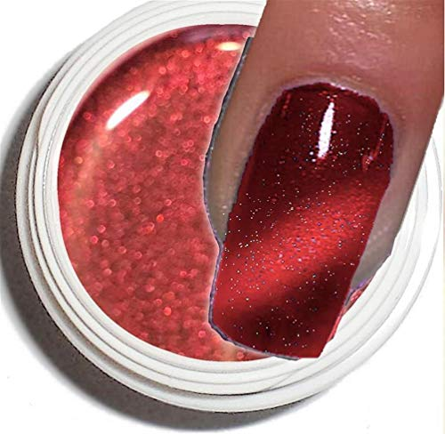 Cat Eye Gel UV 5 ml ~ ~ Cranberry de Red ~ ~ haut pouvoir couvrant –. La tendance actuelle dans de modelage de l'ongle.