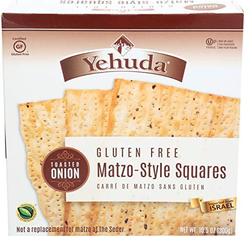 Yehuda Matzo Toasted Onion Matzo Squares, Gluten Free, 10.5 oz