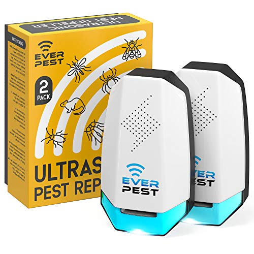 Pest Control Ultrasonic Pest Control- Electronic Waves Ultrasonic Pest Repeller Indoor Plug in for Mice Mosquito Bugs Squirrel German Roach Fly Flea Rats Ant Cockroaches 2 Pack