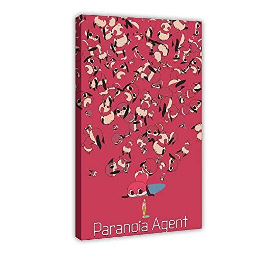 Affiche sur toile de l'animé Paranoia Agent 5 pour décoration de chambre à coucher, de sport, de bureau, de chambre, de bureau, de décoration, cadeau : 40 x 60 cm