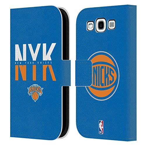 Head Case Designs Ufficiale NBA Tipografia 2019/20 New York Knicks Cover in Pelle a Portafoglio Compatibile con Samsung Galaxy S3 III I9300