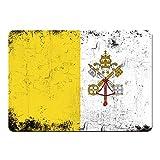 Mousepad Fahne Retro Vatikanstadt farbig