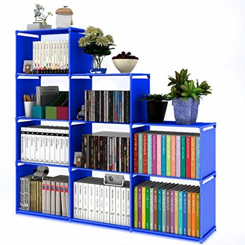 Ilios Innova Librero Organizador Estante Armado Facil, Resistente Diferentes Colores (Azul)