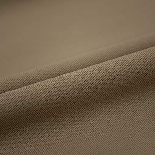 Tela de algodón puro lavado de color tela suave para manualidades para pantalones vaqueros vestido camiseta, material de remiendo ropa de costura abrigo de costura (tamaño: 4 m, color: 9 khika)